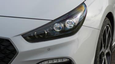 Hyundai i30 N - headlight close-up