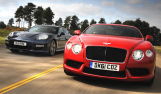 Bentley Continental GT V8 vs Porsche Panamera