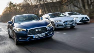 Infiniti Q60 vs Lexus RC vs Audi A5 - triple test