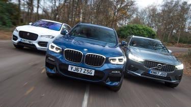BMW X3 vs Volvo XC60 vs Jaguar F-Pace