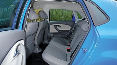 Access to the rear of the Polo is easy thanks to wide-opening rear doors, while the flat rear bench can accommodate three adults at a pinch.