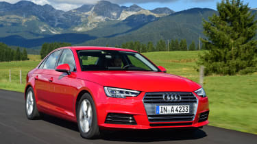 New Audi A4 2016 front action