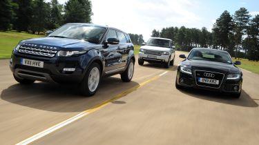 Range Rover Evoque, Range Rover and Audi A5 Sportback