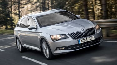 Armoured Skoda Superb - front
