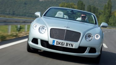 Bentley Continental GTC front tracking