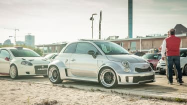Abarth's 70th Anniversary - Modified Abarth 595 front 3/4