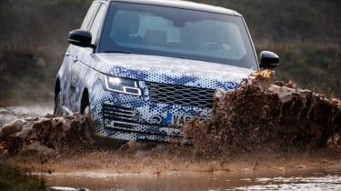 Range Rover Sentinel mud splash