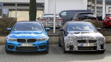 BMW M5 facelift - spyshot 10