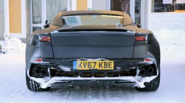 Aston Martin Vanquish winter spy rear