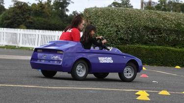 Kid Drivers - rear tracking purple