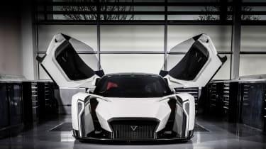 Vanda Dendrobium electric hypercar - doors open front