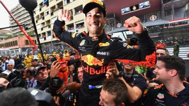Daniel Ricciardo - celebrating