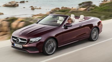 Mercedes E-Class Cabriolet 2017 - burgundy front tracking