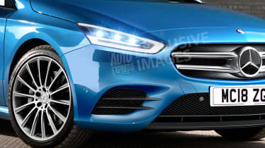 Mercedes A-Class - front detail (watermarked)
