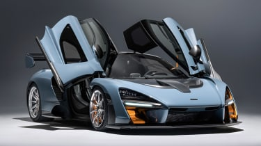 McLaren Senna - grey front/side doors open