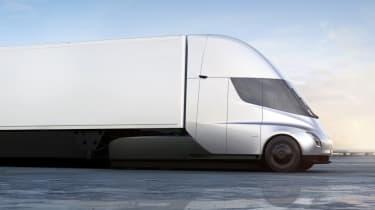 Tesla lorry - electric truck revealed - grey side