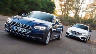 Audi A5 vs Mercedes C- Class Coupe - header