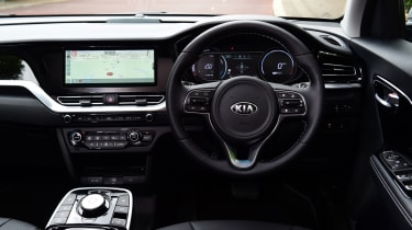 Update focuses on infotainment, and the e-Niro's cabin isn't quite a match for newer Kias in terms of quality