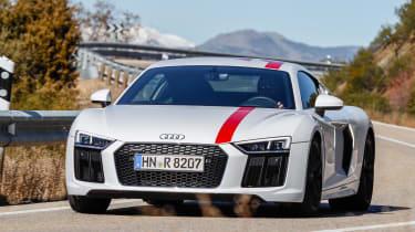 Audi R8 RWS - front action