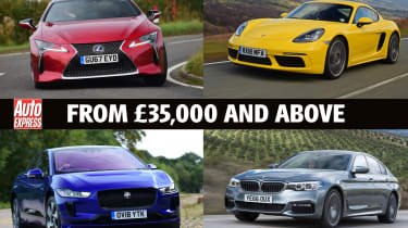 Best Company Cars from £35k and over - header