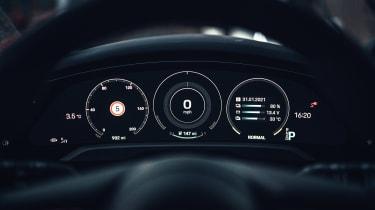 Porsche Taycan Cross Turismo prototype - dials