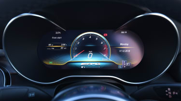 mercedes-amg c 43 coupe dashboard instruments