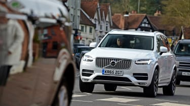 Volvo XC90 long term - front in town