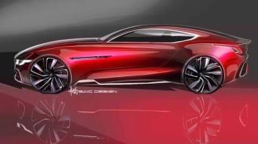 MG E-Motion Concept car 2017 rear