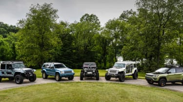 Jeep's wildest concepts driven - group shot
