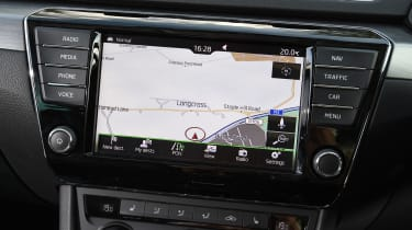 Skoda Superb Estate - sat-nav