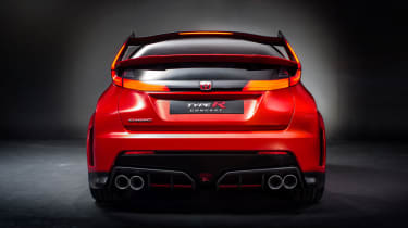New Honda Civic Type R concept rear