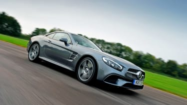 Mercedes SL 400 - front tracking