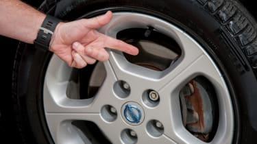 EV driving school - Nissan Leaf - wheel