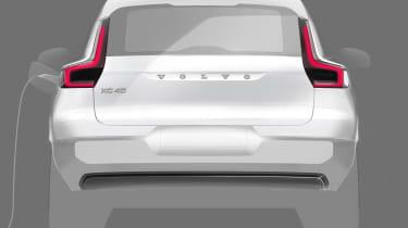 Volvo XC40 EV teaser - rear
