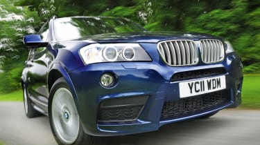 BMW X3 30d M Sport front tracking