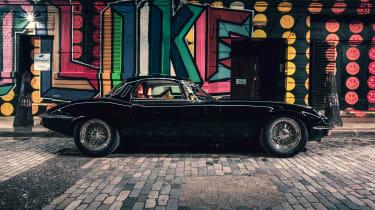 """""""Unleashed"""" Jaguar E-Type restomod - side"""