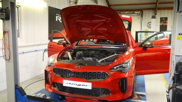 Kia Stinger GT420 - Kia Stinger in workshop front