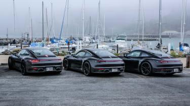 porsche 911 992 prototype rears parked