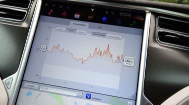 Tesla Model S 2016 facelift screen