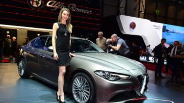 Alfa Romeo Giulia - Geneva show front silver