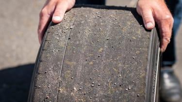 Nissan GT-R 1,390bhp drift car - bare tyre