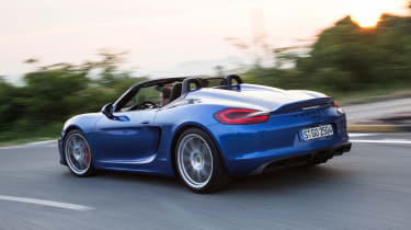 Porsche Boxster Spyder - rear cornering