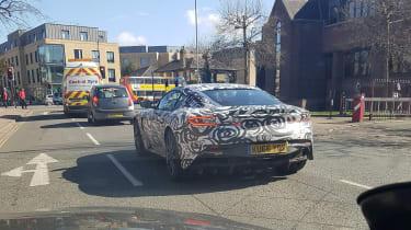 Aston Martin V8 Vantage mule rear quarter uk
