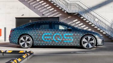 Mercedes EQS prototype - side static
