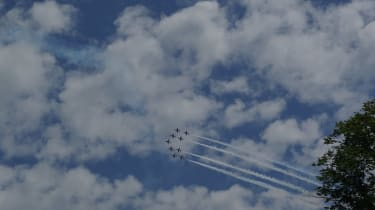 The Red Arrows soared high over the Sussex hills, wowing the crowds at the Festival of Speed.