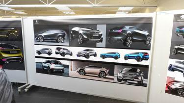 Peugeot 3008 design centre sketches