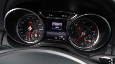 Mercedes A200d dials