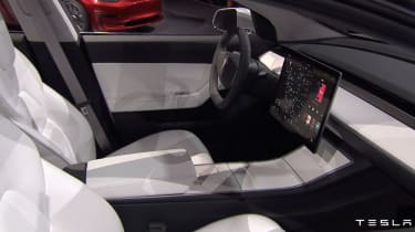 Tesla Model 3 reveal interior
