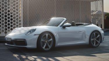 Porsche 911 Carrera 4 Cabriolet- front 3/4 static