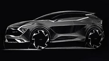Kia Sportage sketch - front